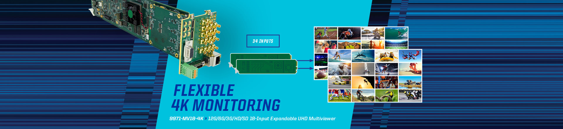 Flexible 4K Monitoring
